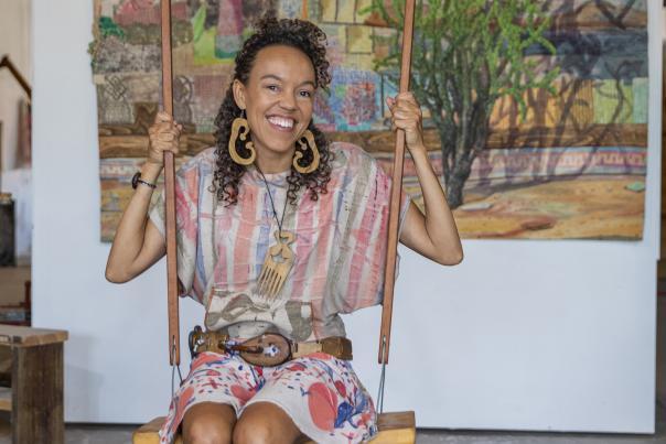 Artist Paula Wilson in Carrizozo