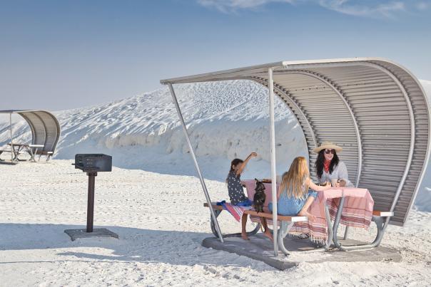 Picnic shelter at White Sands National Park