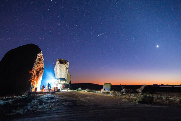 A Picture Perfect Night, City of Rocks State Park, Photograph by Steven Bunt, New Mexico Magazine