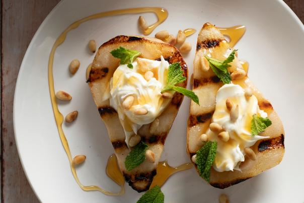 Grilled Pears with Syrup and Mascarpone