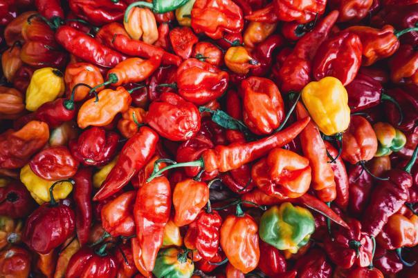 An assortment of peppers.