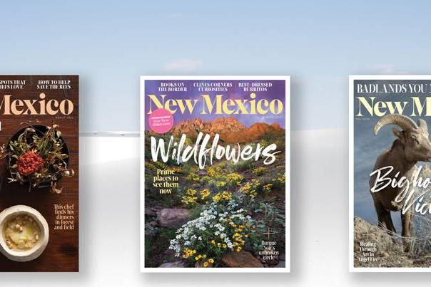 Three covers of New Mexico Magazine, March 2020, April 2020 and May 2020