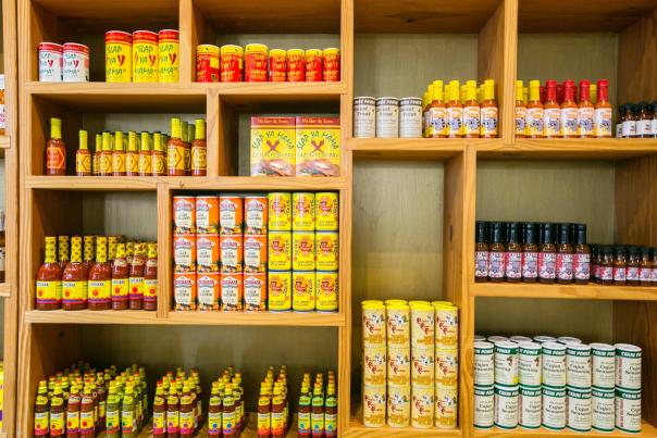 Wall of Hot Sauce