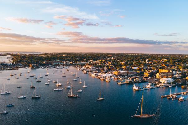 Newport Aerial Sunset