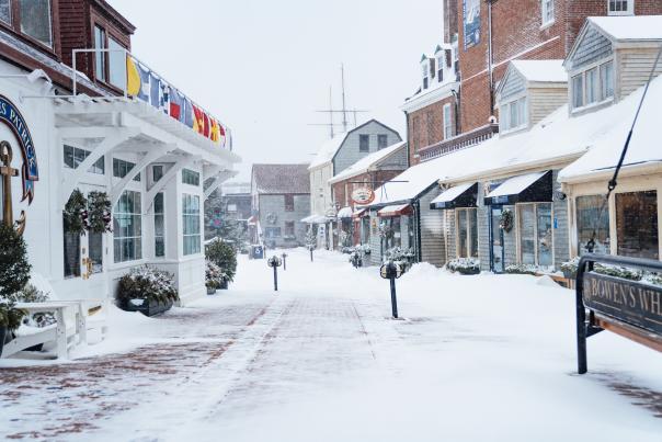 Bowen's Wharf Snow