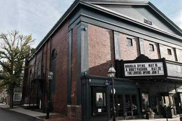 Front Entrance Of Jane Pickens Theater In Newport, RI