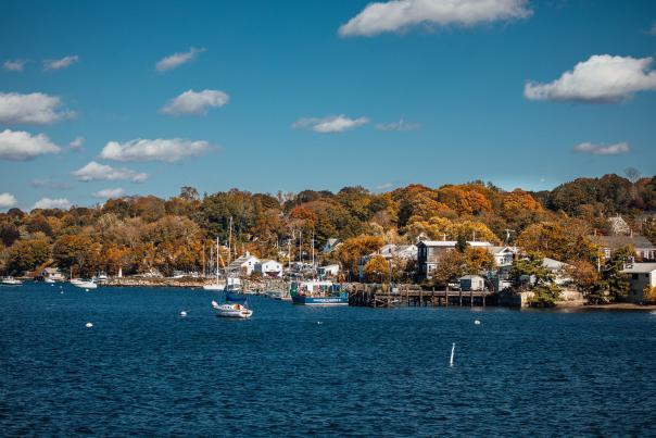 Tiverton Harbor Fall