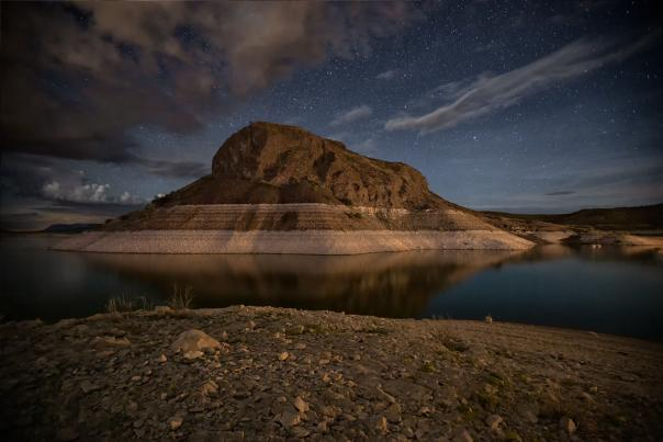 Marina Lights on Elephant Butte, Photograph by David Turning, New Mexico Magazine