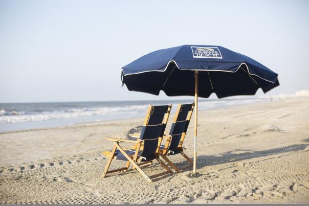 Beach Umbrella & Chairs