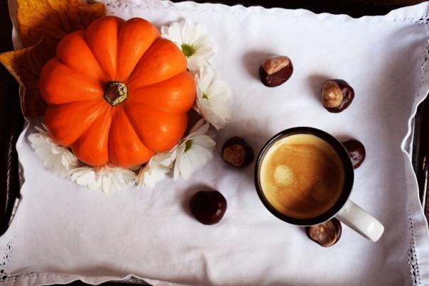 Pumpkin and coffee