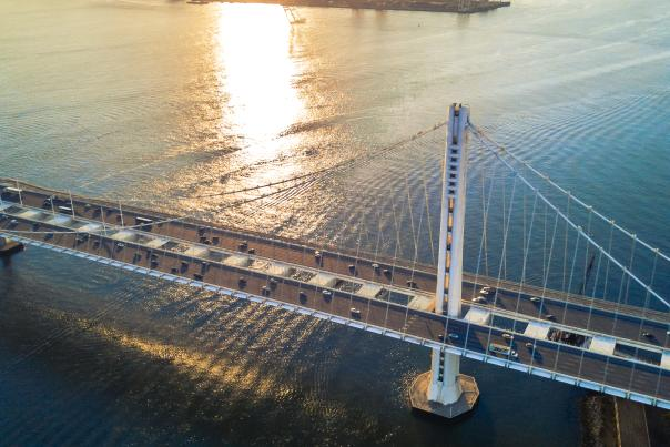 Bay Bridge aerial