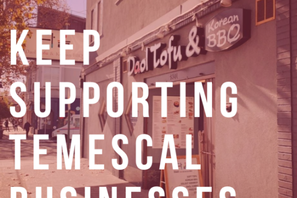 Temescal Businesses Support Graphic