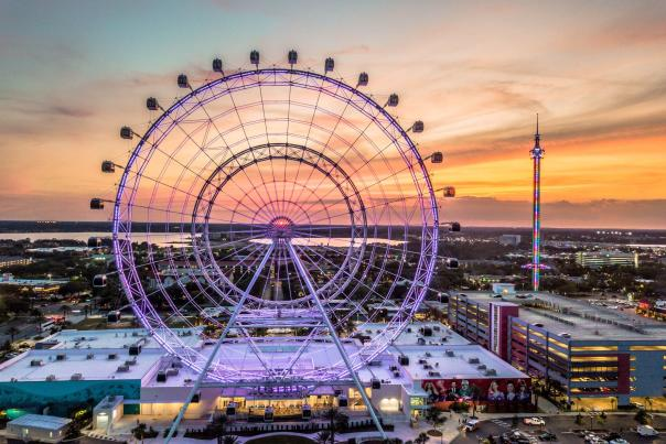 ICON Orlando™ aerial view of complex and wheel