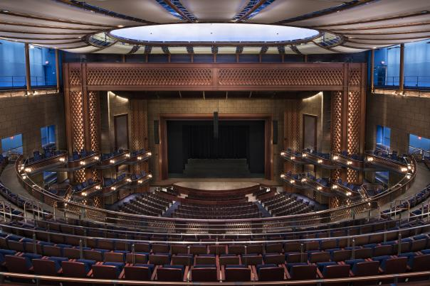 Dr. Phillips Center for the Performing Arts view from seats in Walt Disney Theater