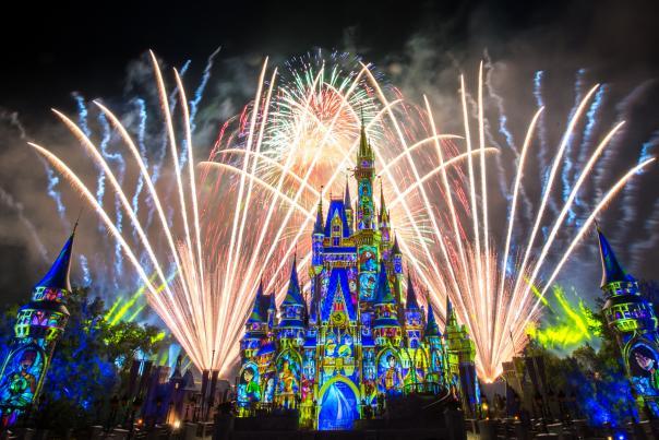 Happily Ever After fireworks show at Walt Disney World's Magic Kingdom Park