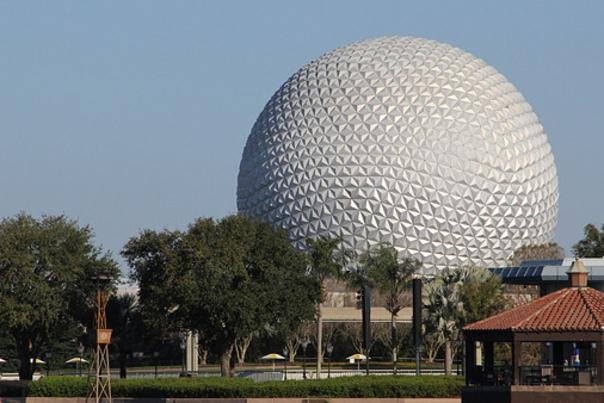 view of Epcot from Walt Disney World Swan and Dolphin Resort
