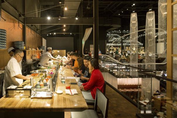 Sushi bar at Morimoto Asia restaurant in Disney Springs