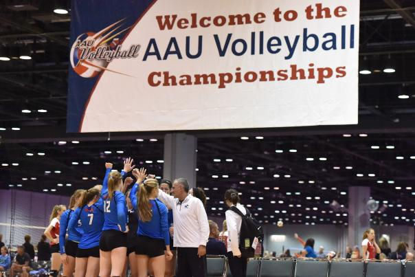 AAU Volleyball Championships players gather