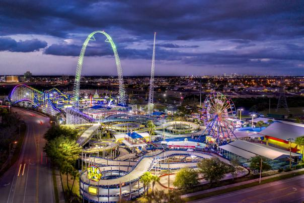 Aerial view of Fun Spot America Theme Parks Orlando