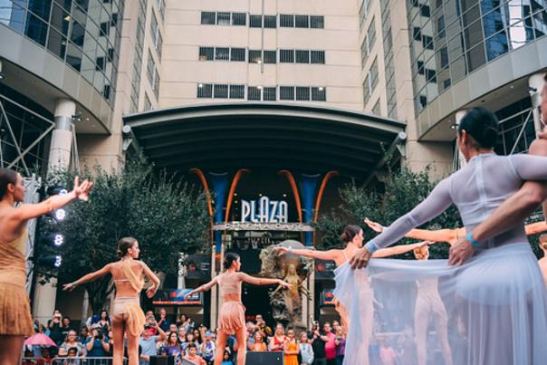Aretuzas Ballerina Project performs at IMMERSE event in downtown Orlando.