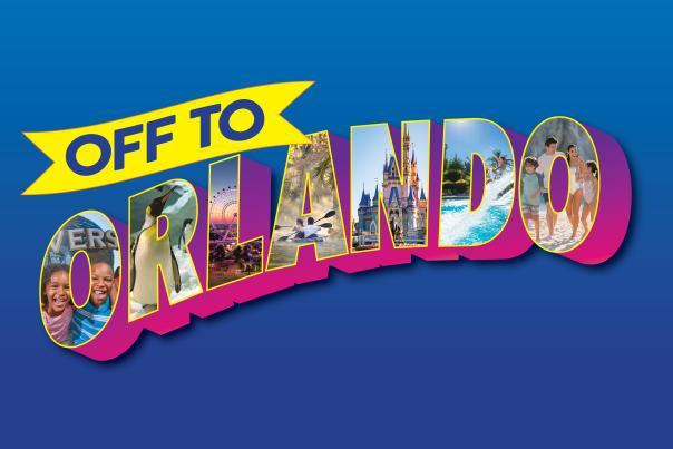 Off to Orlando postcard logo