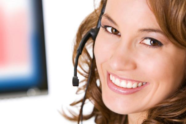 Female customer service representative.