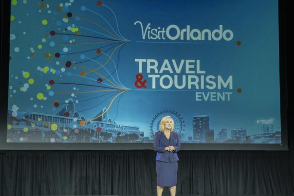 Casandra Matej, President & CEO, Visit Orlando  speaks at the May 4, 2021 Travel & Tourism Member event during National Travel & Tourism Week (NTTW)