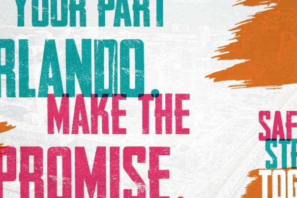 Do Your Part Orlando Make the Promise. Safer Stronger Together logo