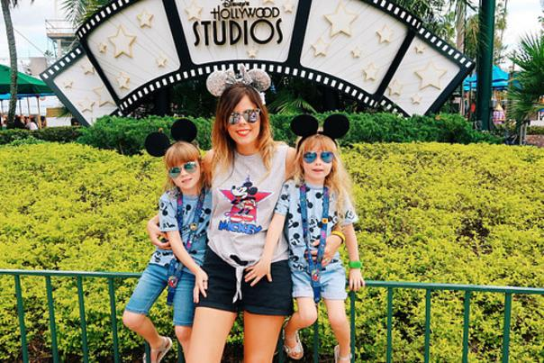 Influencer Katie Ellison and her family at Disney's Hollywood Studios theme park