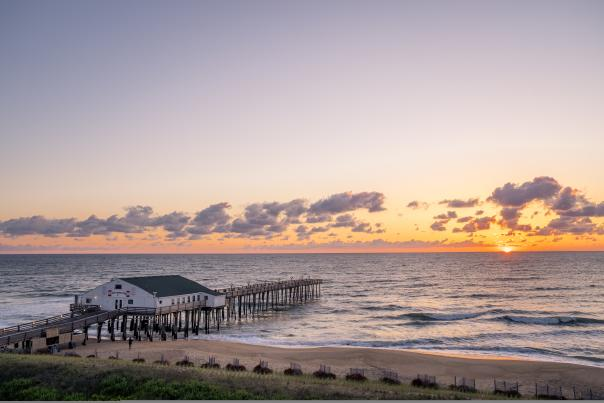 Kitty Hawk Pier at Sunrise