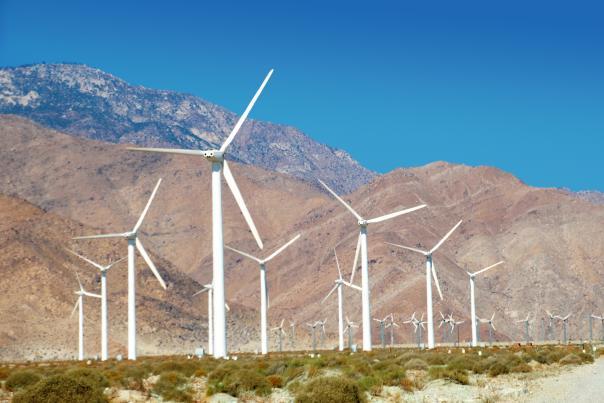 Windturbine, Mountains