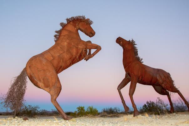 Borrego Springs Horse Sculptures