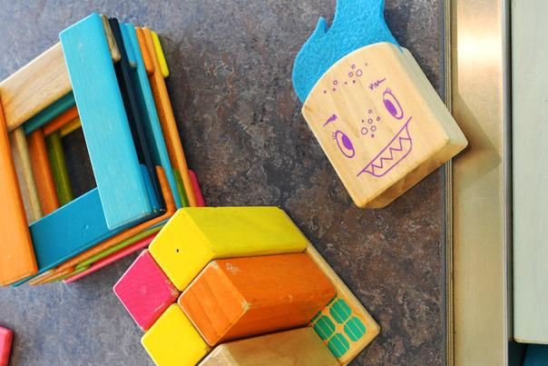 Building blocks and toys for kids.