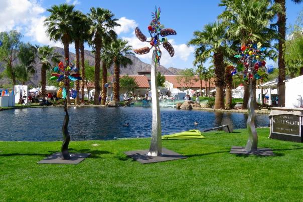 Wind Sculpture displayed at the La Quinta Art Festival.