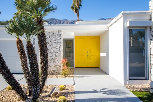 kings point architecture yellow door