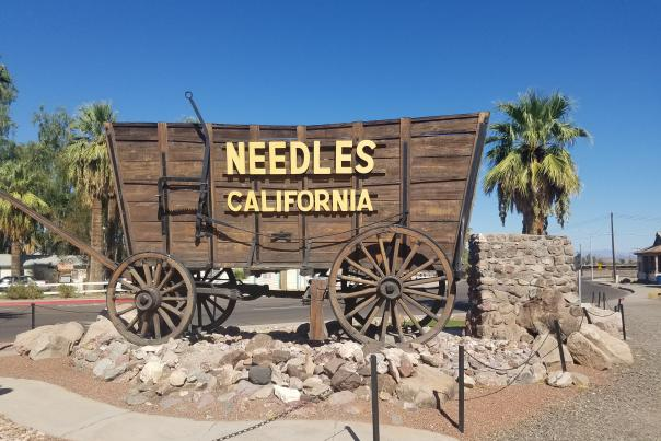 Wagon in Needles, California