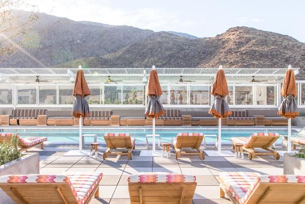 Rooftop pool at The Kimpton Rowan Palm Springs