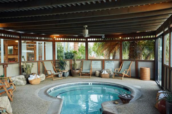 A mineral spa at The Springs Resort & Spa in Desert Hot Springs.