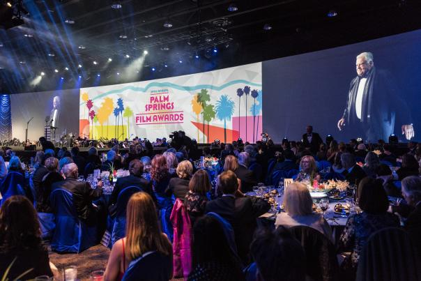 Celebrities gather at the 2018 Palm Springs International Film Festival Awards Gala to celebrate and honor those who made significant contributions to film that year.