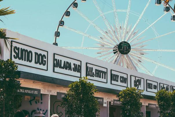 Dining options at Coachella