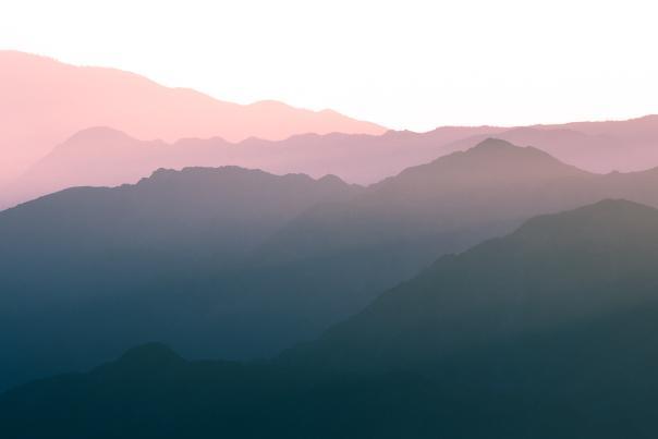San Jacinto Mountains at sunset