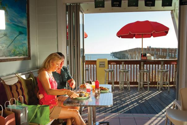 gulf-front dining couple