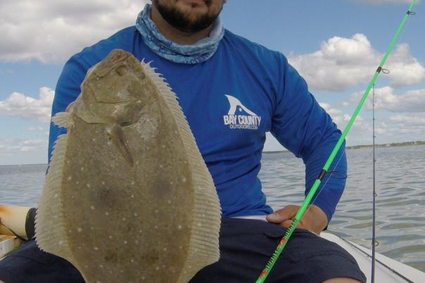 Capt. Nate with Flounder