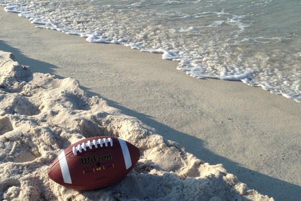 Football on beach Header