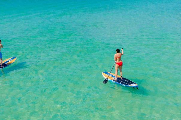 Paddleboarding at shell island