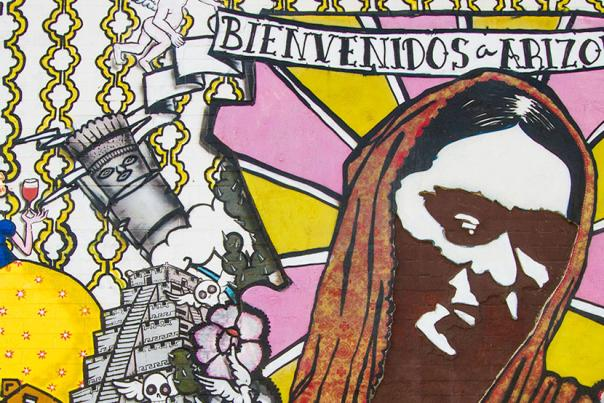 bienvenidos mural