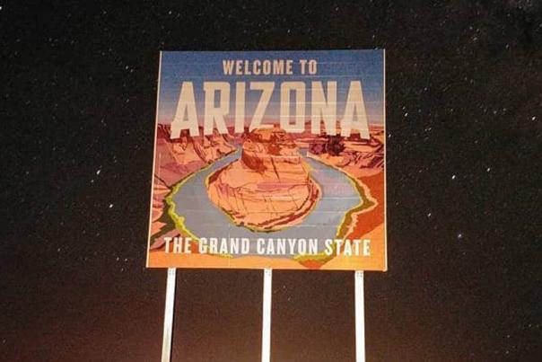 Welcome To Arizona Sign (Header)