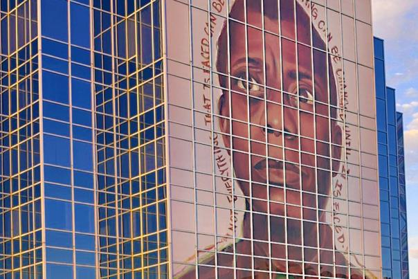 James Baldwin Mural by Antoinette Cauleu