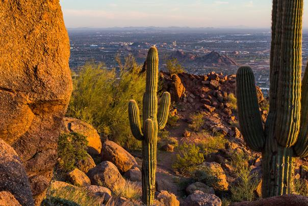 Camelback Mountain in Phoenix, AZ Ariel View