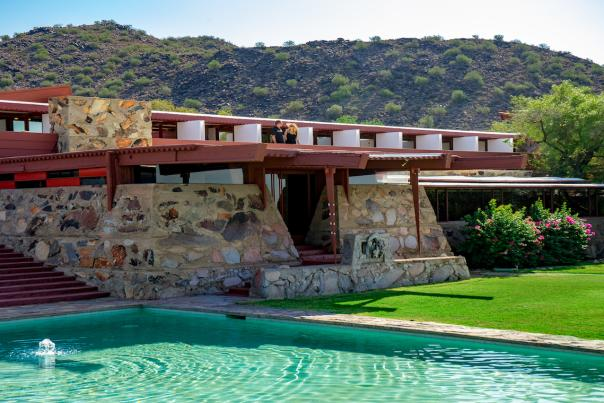 Daytime exterior of Taliesin West